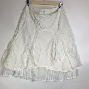 PROMOD Peasant Skirt Layered Off White Size 8